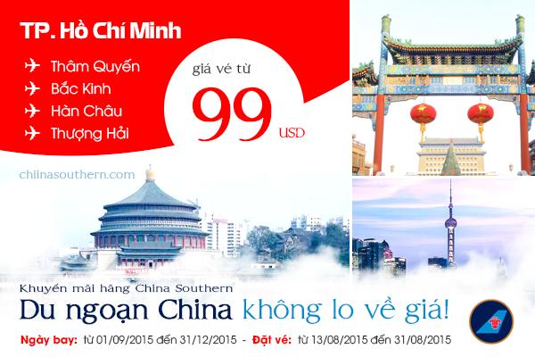 China Southern Airlines khuyến mãi các chuyến bay ở Trung Quốc