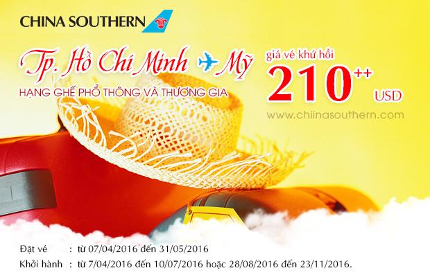 China Southern Airlines tưng bừng khuyến mãi đến Mỹ giá cực hấp dẫn